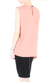 Creative Leadership High Neck Blouse - Rose Pink
