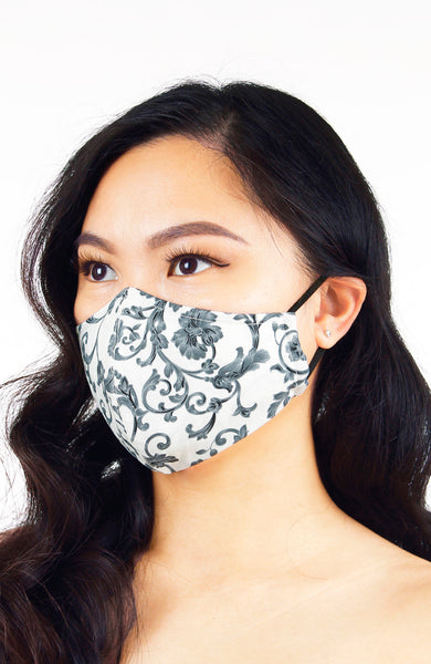 Dame of Renaissance Pure Cotton Face Mask - Earl Grey