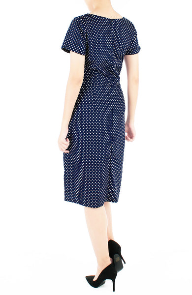 Darling Dots Jeane Dress - Midnight Blue