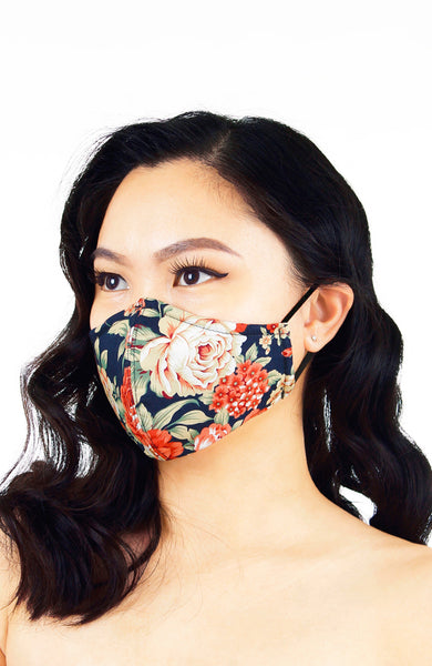 Darling Peonies Pure Cotton Face Mask