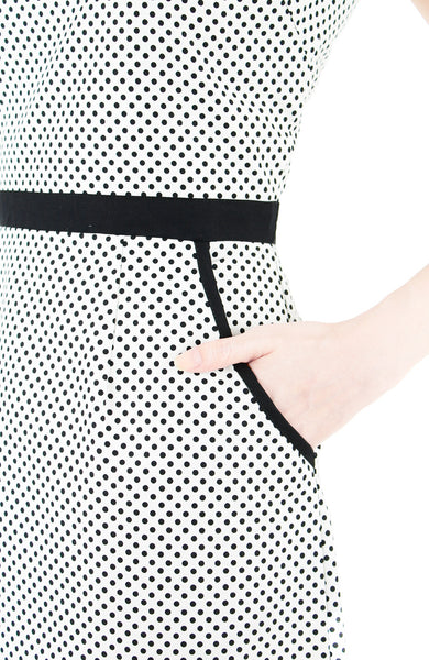 Darling Dots 60s Mod A-Line Dress - White