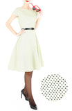Darling Dots Flare Tea Dress - Antique Ivory