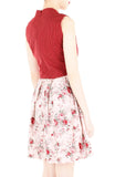 Delicate Rose Artisan Cheongsam Dress - Red