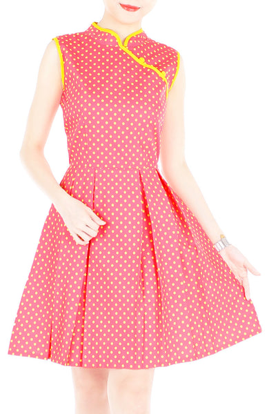 Delightful Dancing Dots Cheongsam Dress