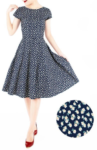 Delightfully Daisies Flare Tea Dress