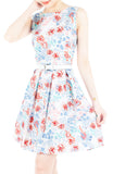 Enchanted Ice Flakes Flare Dress - Ice Blue