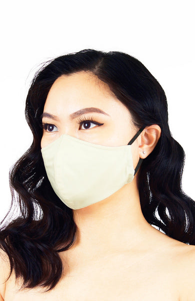 Essential Pure Cotton Face Mask in Ivory