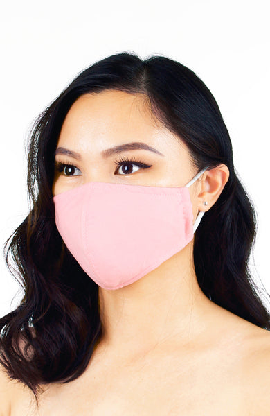 Essential Pure Cotton Face Mask in Peony Pink