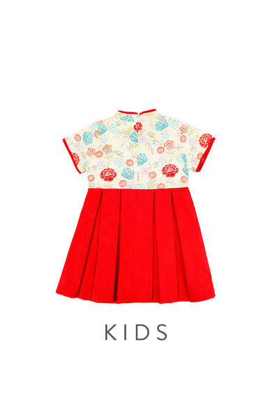 KIDS Eternal Peony Blooms Cheongsam Dress