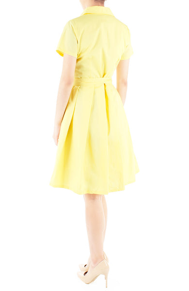 Everlasting Anna Shirtdress in Daffodil Yellow