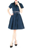 Everlasting Anna Shirtdress in Oxford Navy