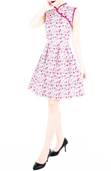 Everlasting Sakura Cheongsam Dress