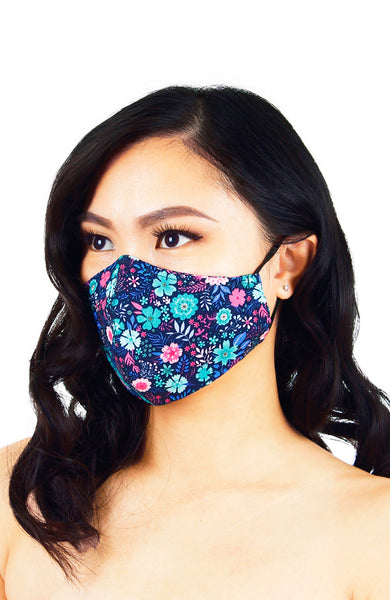 Eywa's Pandora Garden Pure Cotton Face Mask - Blue