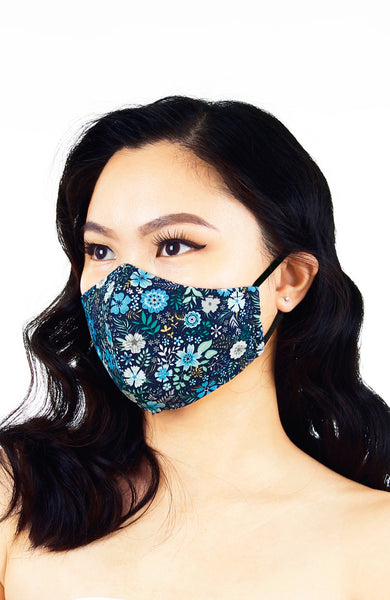 Eywa's Pandora Garden Pure Cotton Face Mask - Serene Blue
