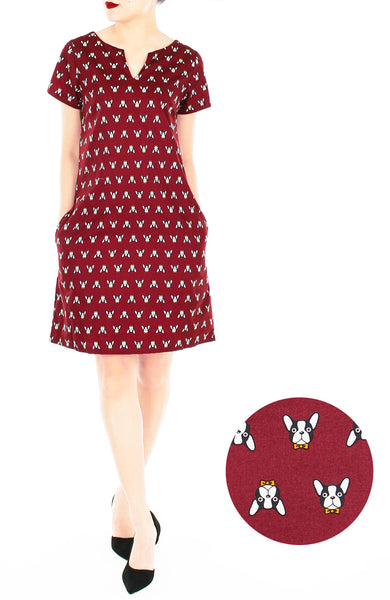 Fancy French Bulldog Lily Shift Dress