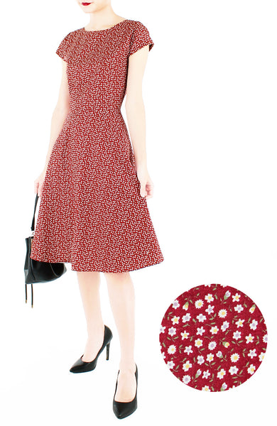 Fine Floral Destination Flare Tea Dress