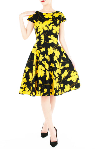 products/Fleur_Freesia_Flare_Tea_Dress_-_Yellow-2.jpg