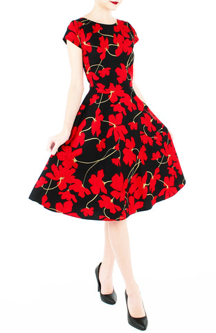 products/Fleur_Freesia_Flare_Tea_Dress_Scarlet-2.jpg