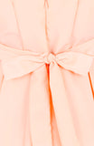 Forever Fanciful Flare Dress with Bow Back - Peach