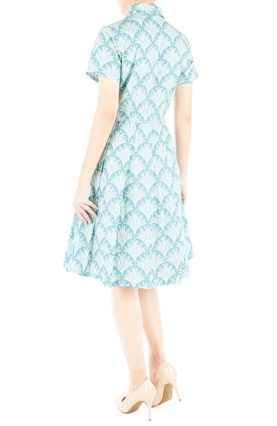 Fountain of Youth Emma Two-Way Shirtdress - Mint