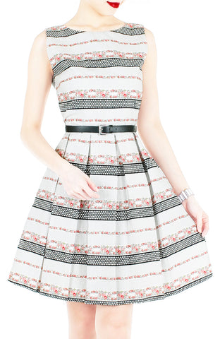 Garden Tour de Polka Dots Flare Dress