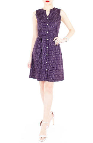 products/Geometric_Rubix_Cube_A-Line_Button_Down_Dress_-_Magenta-2.jpg