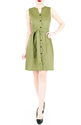 products/Geometric_Rubix_Cube_A-Line_Button_Down_Dress_Pickle_Green-2.jpg