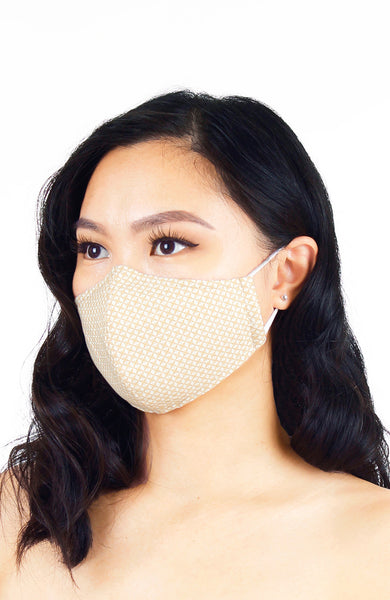 Golden Arabesque Pure Cotton Face Mask