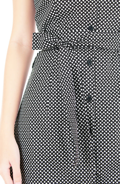 Graph Prodigy A-Line Button Down Dress
