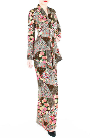 Hana Akira Japanese Modern Kebaya - Coffee Brown