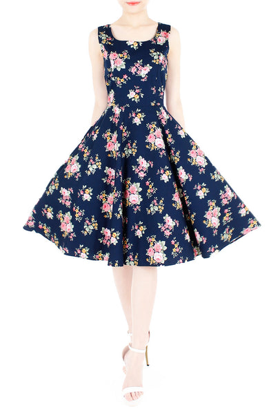 Hey, Pretty Blossom! Flare Midi Dress