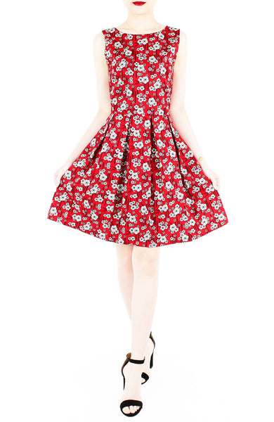 Ikebana Blooms Flare Dress