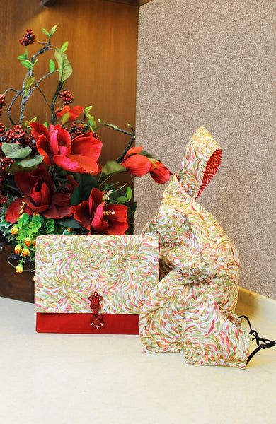 Imperial Chrysanthemum Japanese Prosperity Bag - Reversible