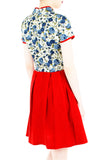 Imperial Porcelain Rosettes Cheongsam Dress