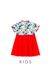 KIDS Imperial Porcelain Rosettes Cheongsam Dress