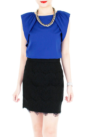 Infinite Options Sleeveless Blouse - Ultramarine Blue