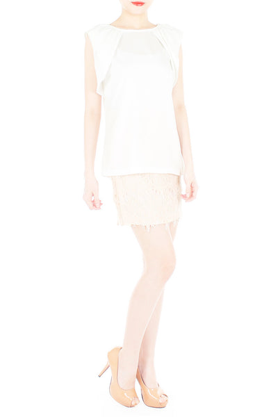 Infinite Options Sleeveless Blouse - White
