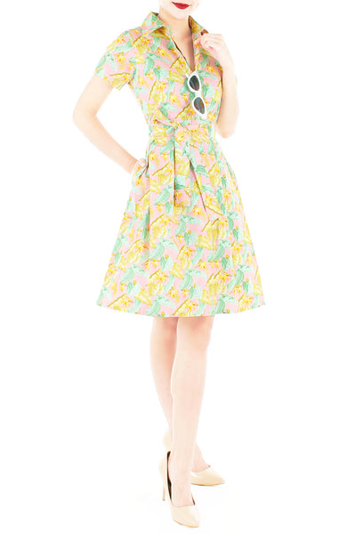 Invigorating Island Anna Shirtdress