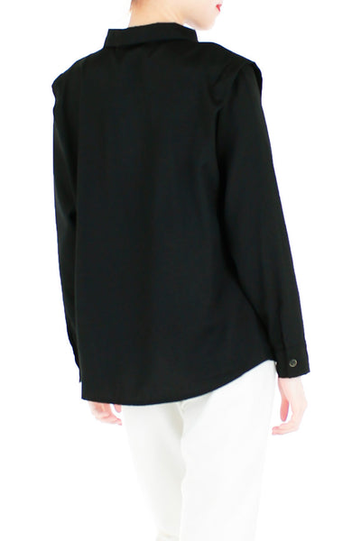 It Was a Dream Job Long Sleeve Shirt - Black