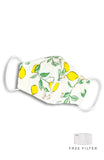 Italian Limoncello Pure Cotton Face Mask - Meringue