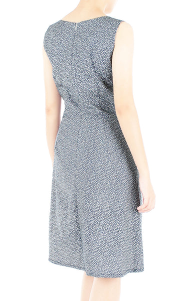 Japanese Shida Ferns Stella Dress - Midnight Blue