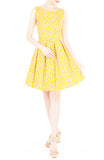Joyful Lil' Daisies Flare Dress - Yellow