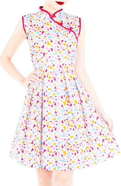 Jubilant Confetti Cheongsam Dress