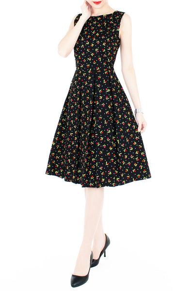 Just the Tulips of Us Flare Midi Dress