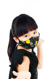 KIDS Italian Limoncello Pure Cotton Face Mask - Noir Black