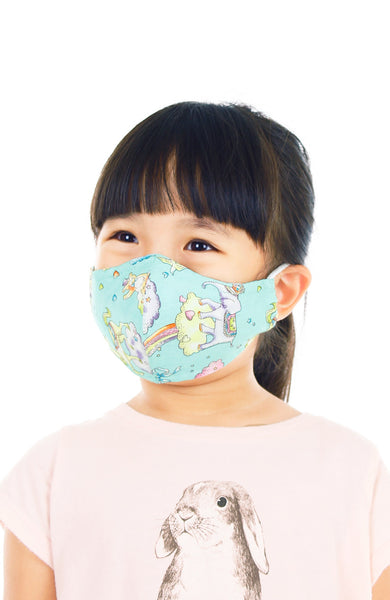 KIDS Magical Wonderland Pure Cotton Face Mask - Mint