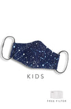 KIDS Moonlight Galaxy Pure Cotton Face Mask - Midnight Blue