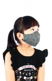 KIDS Moonlight Galaxy Pure Cotton Face Mask - Silver Pink