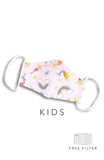 KIDS Rainbow Dreams Pure Cotton Face Mask - Lilac