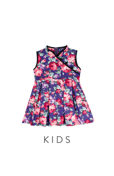 KIDS Private Rose Garden Cheongsam Dress